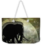 Elephants On Moonlight Walk 2 Weekender Tote Bag