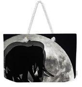 Elephants On Moonlight Walk Weekender Tote Bag