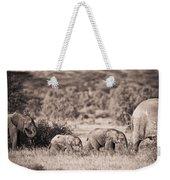 Elephants Walking In A Row Samburu Kenya Weekender Tote Bag