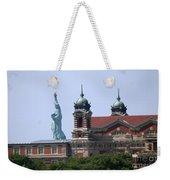 Ellis Island And Statue Of Liberty Weekender Tote Bag