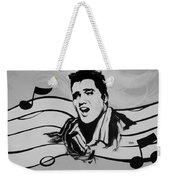 Elvis In Black And White Weekender Tote Bag