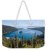 Emerald Bay Morning Weekender Tote Bag
