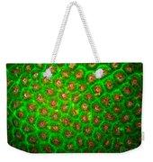Emerald Coral Weekender Tote Bag