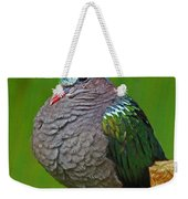 Emerald Ground Dove Weekender Tote Bag
