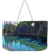 Emerald Mountain Pond Weekender Tote Bag