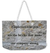 Employee Service Anniversary Thank You Card - Cement Wall Weekender Tote Bag