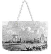 England: Boat Race, 1858 Weekender Tote Bag
