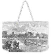 England: Boat Race, 1866 Weekender Tote Bag