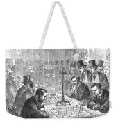 England: Chess Match Weekender Tote Bag