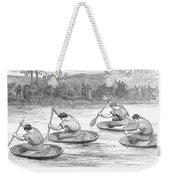 England: Coracle Race, 1881 Weekender Tote Bag