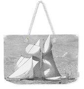 England: Yacht Race, 1868 Weekender Tote Bag