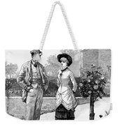 English Couple, 1883 Weekender Tote Bag