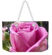 English Pink Rose Close Up Weekender Tote Bag