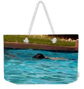 Enjoying A Swim Weekender Tote Bag