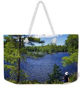 Enjoying The Lake Weekender Tote Bag