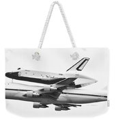 Enterprise Shuttle Nyc -black And White  Weekender Tote Bag