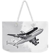 Enterprise Shuttle Piggyback Ride Weekender Tote Bag