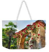 Entrance Arch With Flowers Weekender Tote Bag