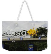 Entrance Gate For Sentosa Island In Singapore Weekender Tote Bag