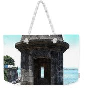 Entrance To Sentry Tower Castillo San Felipe Del Morro Fortress San Juan Puerto Rico Poster Edges Weekender Tote Bag by Shawn O'Brien
