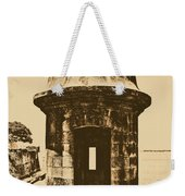 Entrance To Sentry Tower Castillo San Felipe Del Morro Fortress San Juan Puerto Rico Rustic Weekender Tote Bag by Shawn O'Brien