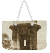 Entrance To Sentry Tower Castillo San Felipe Del Morro Fortress San Juan Puerto Rico Vintage Weekender Tote Bag