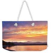 Epic August Colorado Sunset  Weekender Tote Bag