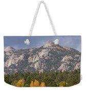 Estes Park Autumn Lake View Vertical Weekender Tote Bag