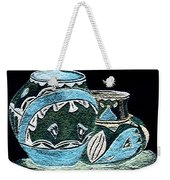 Etched Pottery Weekender Tote Bag