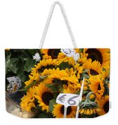 European Markets - Sunflowers And Roses Weekender Tote Bag