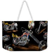 Evel Knievel Harley-davidson Chopper Weekender Tote Bag