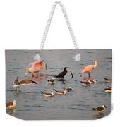 Evening Activity In The Bay Weekender Tote Bag