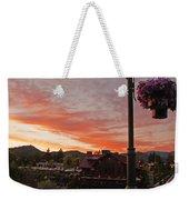 Evening Color Over Taprock Weekender Tote Bag