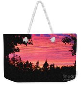 Evening In Paradise Painterly Style Weekender Tote Bag