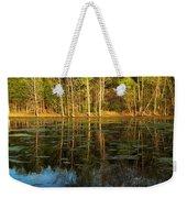 Evening Light On A Missouri Pond I Weekender Tote Bag