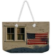 Evening Light On An American Flag Weekender Tote Bag