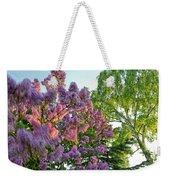 Evening Lilac Weekender Tote Bag