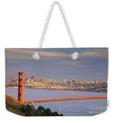 Evening Over San Francisco Weekender Tote Bag