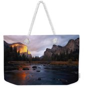 Evening Sun Lights Up El Capitan Weekender Tote Bag