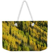Evergreen And Quaking Aspen Trees Weekender Tote Bag