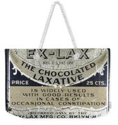 Ex-lax Container Weekender Tote Bag