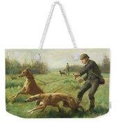 Exercising Greyhounds Weekender Tote Bag