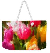 Expressionistic Spring Tulip Explosion Weekender Tote Bag
