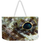 Extreme Close-up Of A Lizardfish Weekender Tote Bag