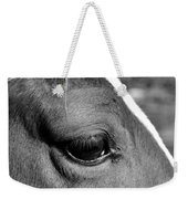 Eye Of The Horse Black And White Weekender Tote Bag