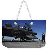 F-35b Lightning II Variants Are Secured Weekender Tote Bag