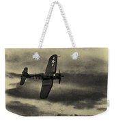 F4u Corsair In Sepia Weekender Tote Bag