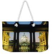 Facade Of A Government Building Lit Up Weekender Tote Bag