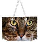 Face Framed Feline Weekender Tote Bag