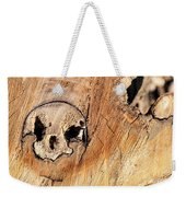 Face In The Wood Weekender Tote Bag